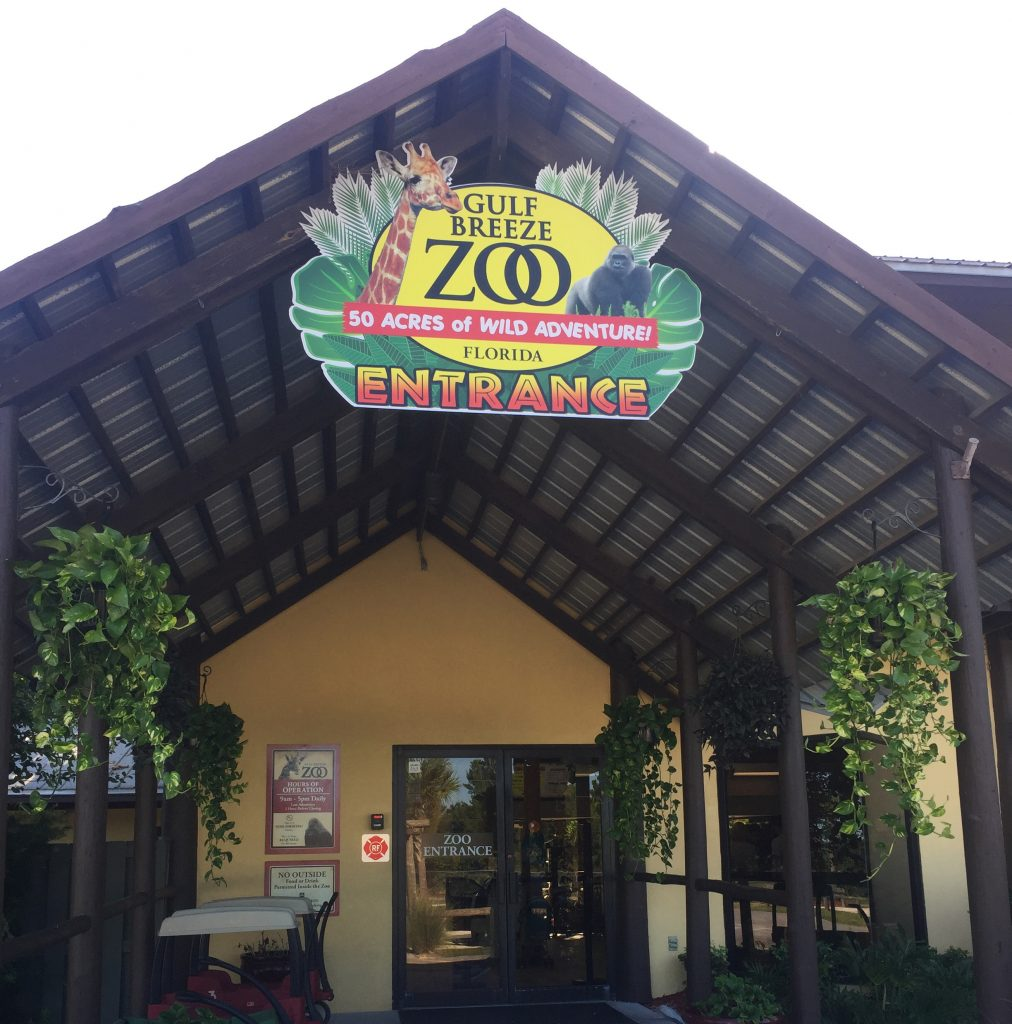 gulf-breeze-zoo-sign-at-entrance