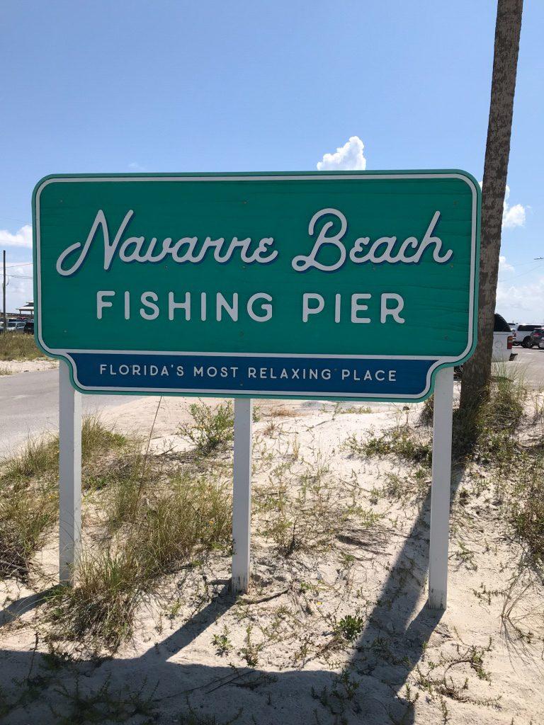 navarre-beach-pier-signage